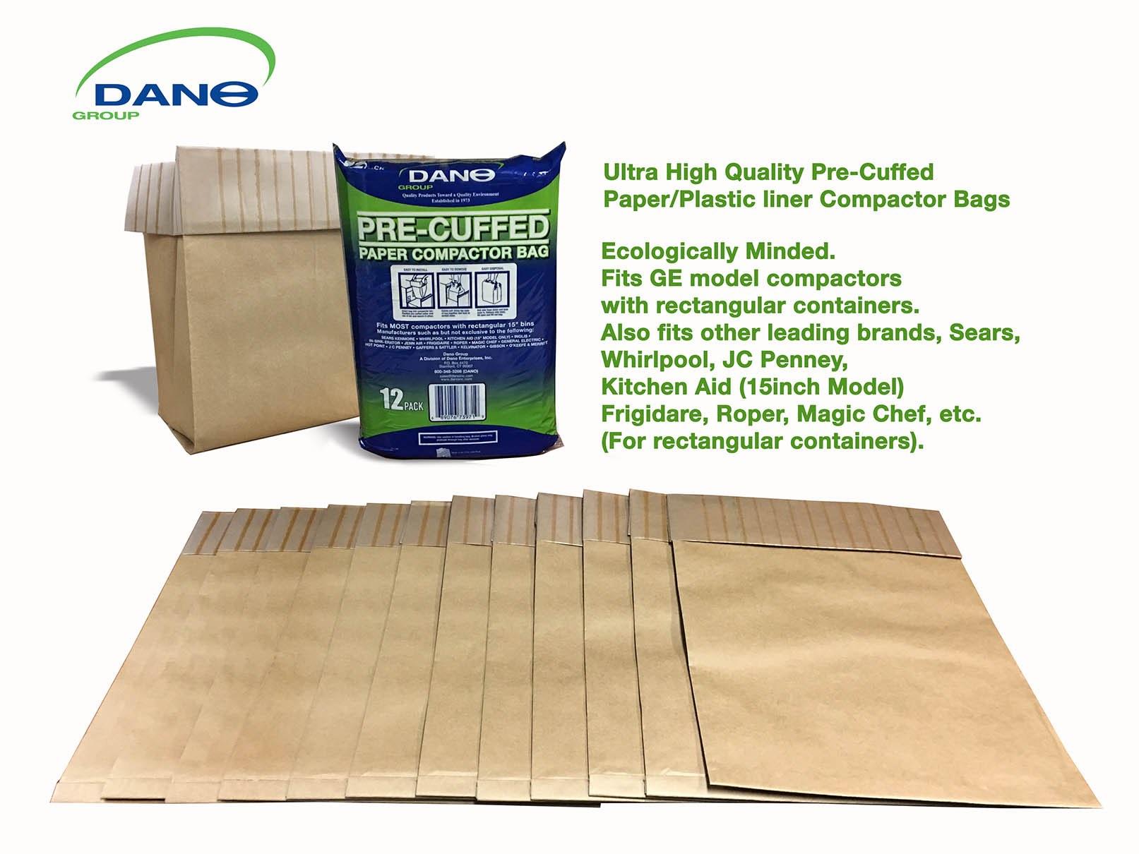 Precuffed Paper Compactor Bag